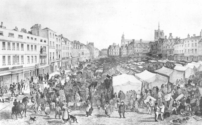 Tržnica Norwich, 1806 (foto via Wikipedia)