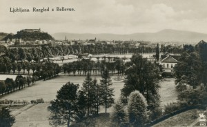 Razgled z Bellevue na Tivoli leta 1928