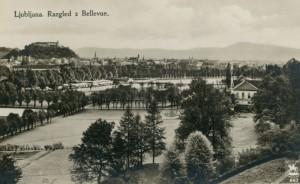 Razgled z Bellevue na Tivoli leta 1928
