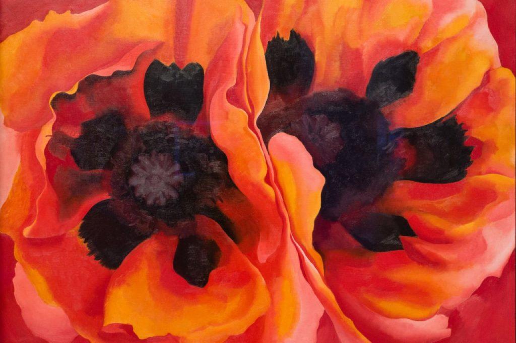 Georgia O'Keeffe, Oriental Poppies, 1927, Weisman (foto: Sharon Mollerus via Flickr)