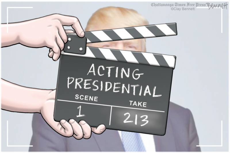 Ilustracija: Clay Bennett via Politico.