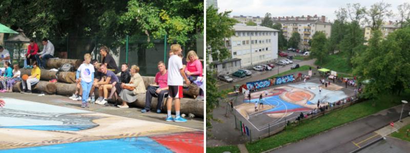 Otvoritev javnega prostora Hip hip super hrib zasnovanega skupaj s prebivalci in osnovno šolo v Savskem naselju.
