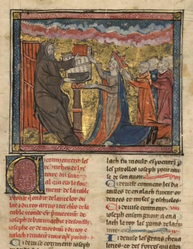 Primer strani iluminiranega strednjeveškega rokopisa. (foto: MZ)