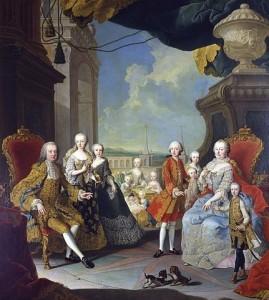 Cesarica Marija Terezija z družino, 1756 (foto via Wikimedia)