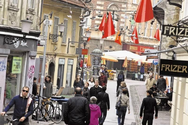 Pogled na Trubarjevo v Ljubljani
