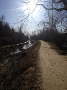 C&O Canal, Washington, DC. Bernardova občasna tekaška proga (foto: osebni arhiv)