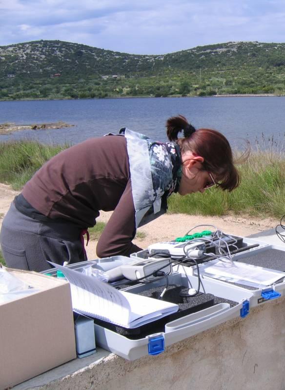 Darja Komar pri terenskem delu v zalivu Makirina na Hrvaškem. (foto: osebni arhiv DK)