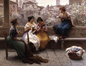 (umetnik: Eugene de Blaas, 1843–1932)
