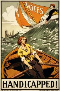 Propagandni letak sufražetk, 1910 - 1919 (avtor: Artists' Suffrage League via Wikimedia)