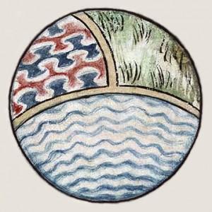 Srednjeveška umetniška predstavitev sveta, cca 1400 (foto via Wikimedia)