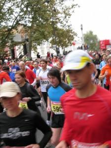 Na Ljubljanskem maratonu leta 2008 (foto:  Marko Kunst)