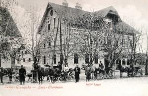Lesce, razglednica, poslana 1908