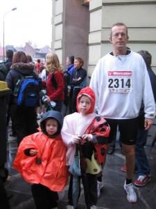 Na Ljubljanskem maratonu leta 2007 (foto: osebni arhiv)