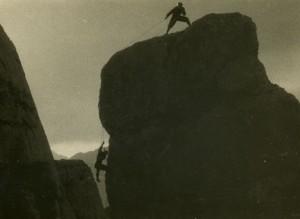Plezalna scena iz severne Triglavske stene (foto TK Skala)