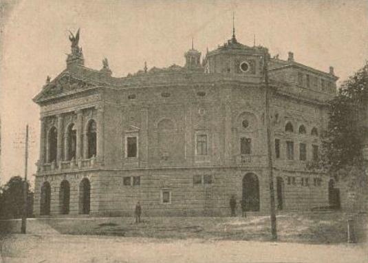 Deželno gledišče v Ljubljani – na otvoritvi 1892 je Zvonarjeva odigrala naslovno vlogo v Jurčičevi Veroniki Deseniški (danes SNG Opera in balet), Dom in svet, 1893