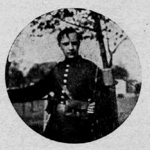 Fotografija vojaka, ki ga je Cerar Anton Danilo imenoval Dimež (vir: Dimež, strah kranjske dežele