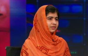Malala Yousafzai (foto via YT, Daily show)