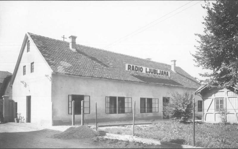 Stavba studia Ijubljanske radijske postaje na Bleiweisovi cesti, 1928
