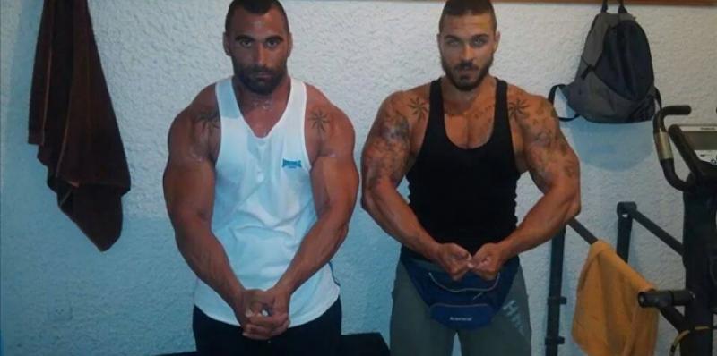 Umorjena mišičnjaka Janis Komatis in Konstantinos Sguros (vir: Facebook)