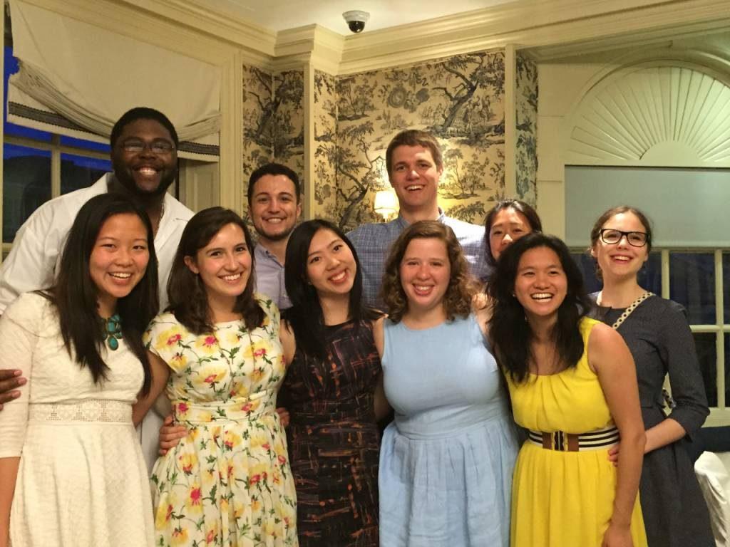 Zakljucna zabava s studenti po podelitvi diplom