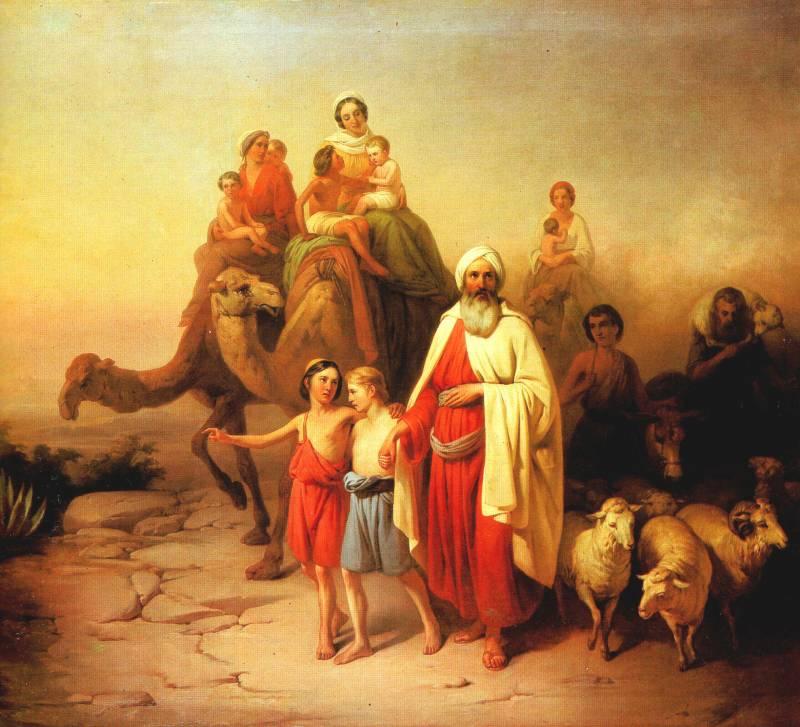 Abrahamov odhod (avtor slike: József Molnár)