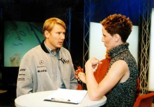 Oddaja Športna scena, intervju z vozniko F1 Miko Hakkinenom (foto: arhiv POP TV)
