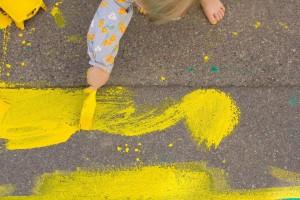 Barvanje Čufarjeve ulice (foto: arhiv prostoRož)