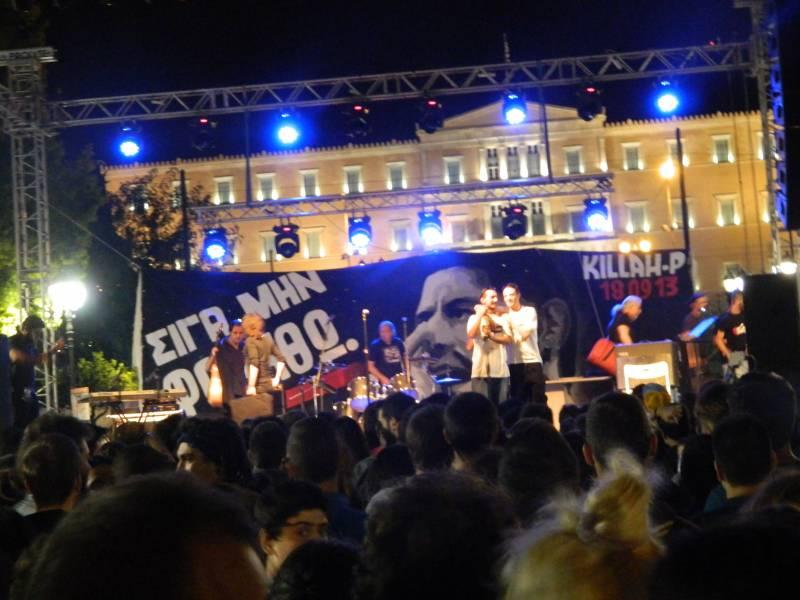 Koncert v spomin grškemu raperju (foto: Katja Lihtenvalner)