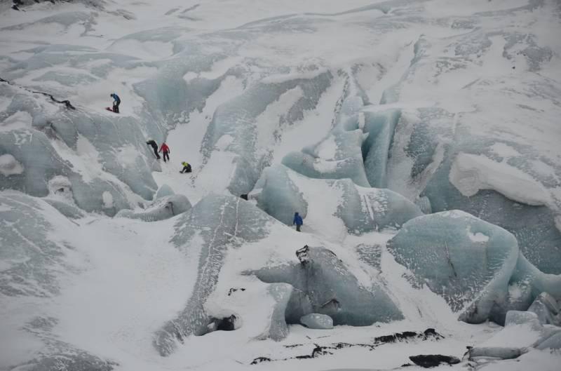Ledenik Sólheimajökull, marec 2015 (foto: alljengi via Flickr)