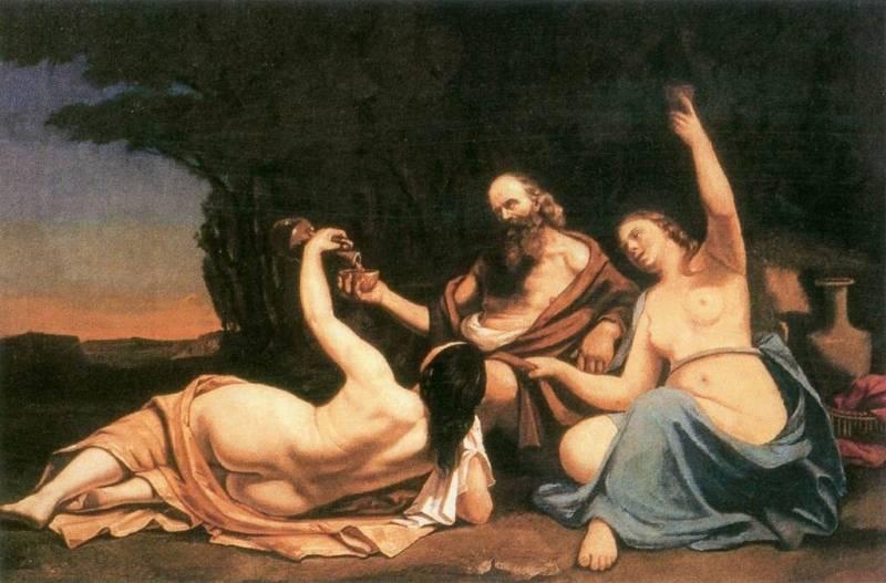 Lot in njegove hčere. Avtor: Gustave Courbet.