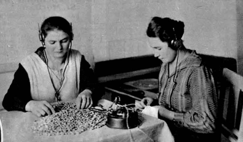 "Anica in Franica občudujeta ""tercet Šlška"", Ilustrirani Slovenec, 20. januar 1929"