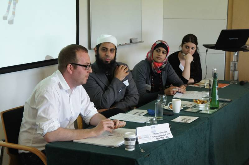 Pina Sadar na simpoziju Muslims in the UK and Europe na Univerzi v Cambridgeu. (foto: osebni arhiv)