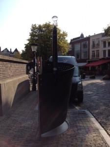 Pisoar na prostem v Utrechtu