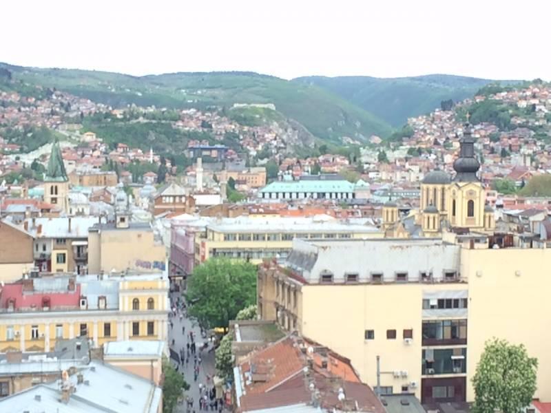 Sarajevo, pogled s hotela Hecco (foto: NB)