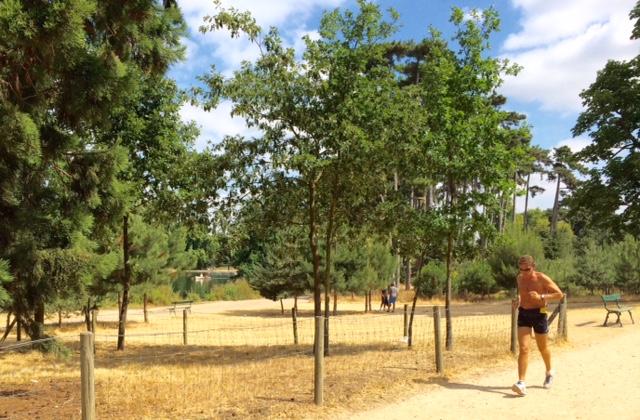 shirtless running