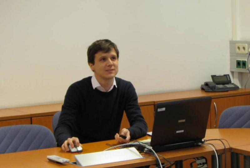 Žiga Malek na zagovoru doktorata (foto: osebni arhiv)